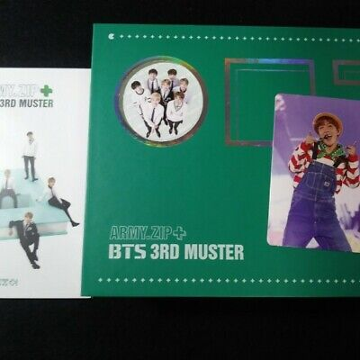 BTS 3rd Muster Army Zip + Official DVD Full Set 3 Disc +  Photo card(J Hope)