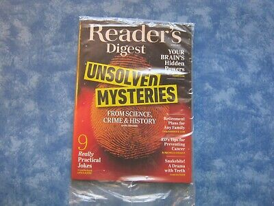 READER'S DIGEST MAGAZINE April 2019 UNSOLVED MYSTERIES: SCIENCE, CRIME, HISTORY
