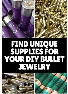 25 jewellery Shells casing bullet Woodwork Art *non cylindrical distorted*