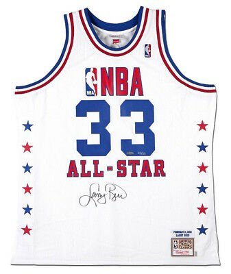 69525affa54 LARRY BIRD Autographed Authentic M&N 1990 NBA All-Star Game Jersey UDA LE 33