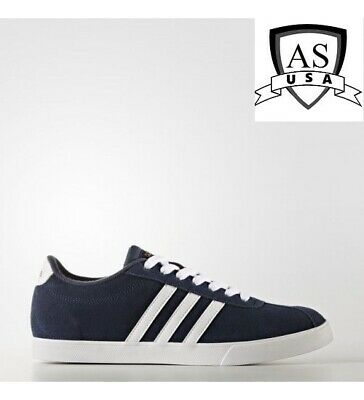 ADIDAS COURTSET W Tennis Navy Blue White Gold Suede Womens AW4212 Multiple Sizes