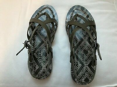 cf61584b5fa7 Lucky Brand Adinis Women s Flat Sandals Olive Green Size 7.5 M