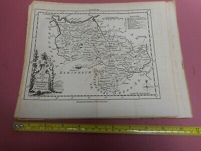 100% Original Denbighshire Map By T Kitchin/baldwin  C1784  Low Start