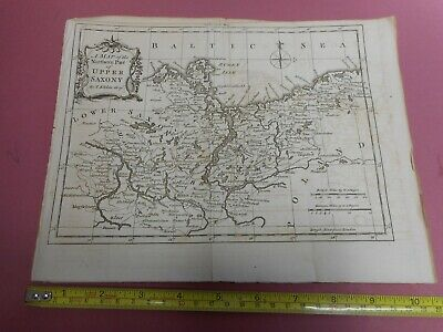 100% Original Upper Saxony Germany Map By T Kitchin/baldwin  C1756  Low Start