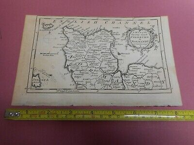 100% Original Normandy Cherburg Map By T Kitchin/baldwin  C1758  Low Start