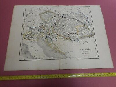 100% Original Austria Hungary Croatia Map By H G Collins C1856  Low Start