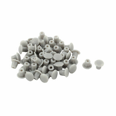 Furniture Plastic Pipe End Hole Drilling Cover Plugs Insert Gray 5mm 50 Pcs
