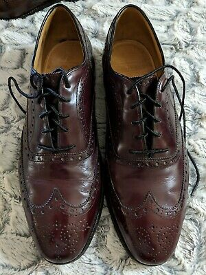 e5dc3859c9e3c Johnston Murphy Aristocraft Mens Sz 12 D USA Brown Leather Wingtip Oxford  Shoes