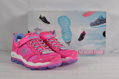 caa6a7f42f55 Youth Girl s Skechers Skech Air-Stardust Sneakers Neon Pink Periwinkle