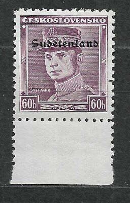 Sudetenland, german occupation WWII. overprint Konstantinbad Mi. 10