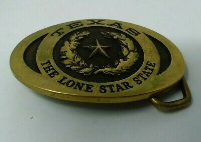 Texas The Lone Star State Heritage Mint Brass Belt Buckle