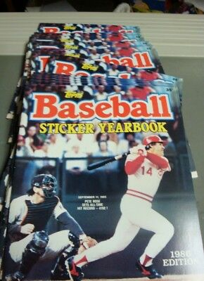 Lot Of 20 New 1986 Topps Baseball Sticker Yearbook Album Pete Rose