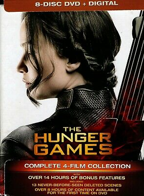 THE HUNGER GAMES (Complete 4 film collection) 8-Disc DVD Region 1 Boxset