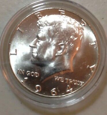 BU 1964 Kennedy Silver Half Dollar in Air-Tite Capsule From Roll, Uncertified