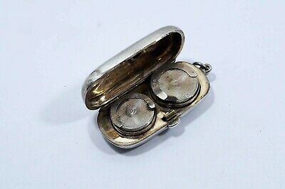 1900 Chester Sterling Silver Sovereign Double Coin Holder  B333