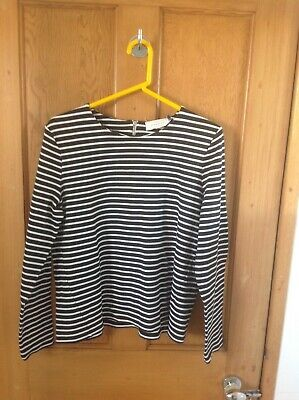 John Lewis Ladies Jumper Size 16 Weekend Collection Black/White stripped used