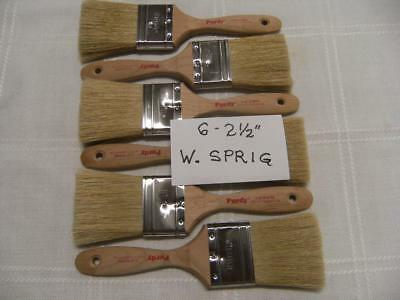 "PURDY paint brushes. Lot of 6 W. Sprig  2.5"". No covers. New. Nice deal!"