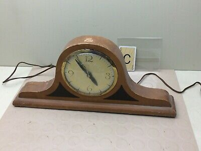 Vintage Wood Electric Lanshire Mantle Clock  Model 15