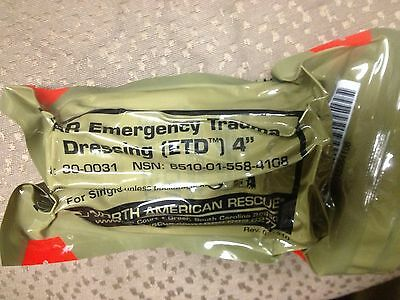 New, in packaging, lot of two (2) NAR Emergency Trauma Dressing, 4 inch,