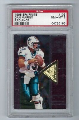 1998 SPx Finite Radiance Dan Marino PSA 8 Serial #'d HOF Dolphins Football Card