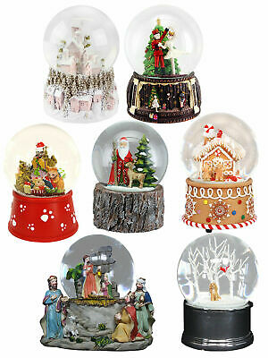 Gisela Graham Musical Christmas Snow Globe Xmas Decoration Santa Nativity Nordic