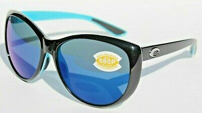 197aa955ef COSTA DEL MAR La Mar 580P POLARIZED Sunglasses Womens Black White Aqua Blue  NEW