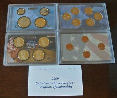 2009-S United States Mint Proof (18) Coin Set w/ Box And COA