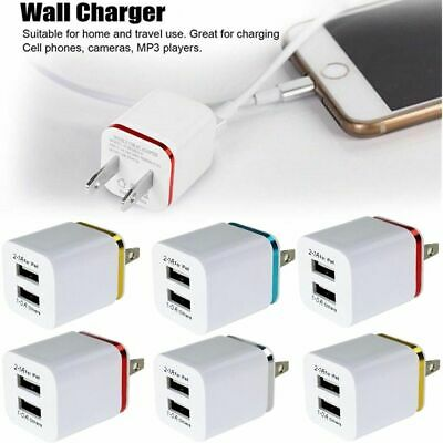 USB Double Wall Fast Charger Adapter 1A 2A 5V  For Android / Galaxy / iPhone New
