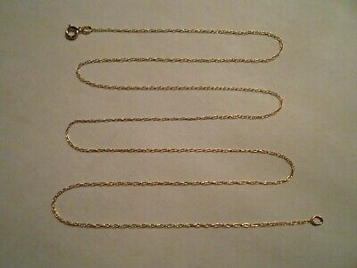 Estate Solid 10k Yellow Gold Chain Twist Necklace Jewelry 10KT Not Scrap 417 D4