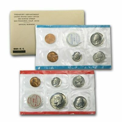 1969 U S MINT UNCIRCULATED COIN SETS -   10 Coins  -