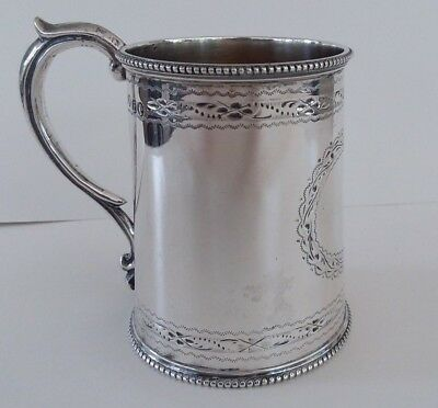 RARE 1861 Antique Victorian English Christening Mug Cup by Robert Harper, London