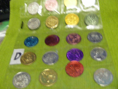 Lot of 20 Genuine New Orleans Mardi Gras Doubloons,years 1970, 70s,80s,etc.(D)