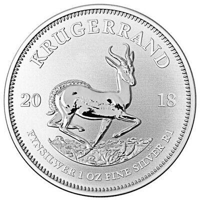 Lot of 6 - 2018 1oz BU South African Silver Krugerrand .999
