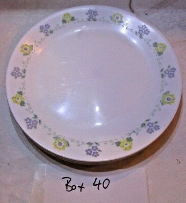 9 Dinner Plates, Forget me not, Corelle by Corning (Lot 41)
