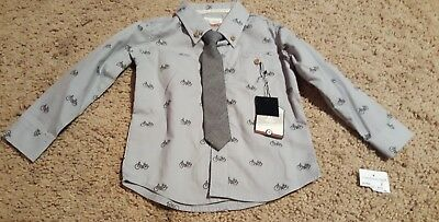 NEW Sovereign Code Shirt & Tie  Size 18 Month Baby Toddler Gray