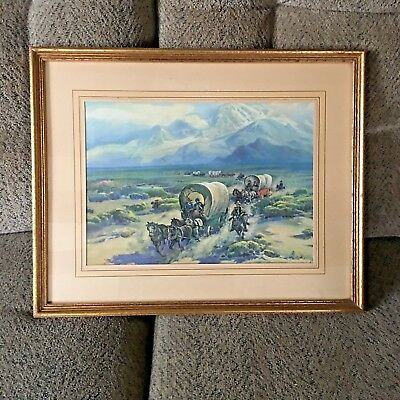 "Antique 16"" x 20"" Framed  F. Grayson Sayre (1879- 1939)  "" Rugged Trails """
