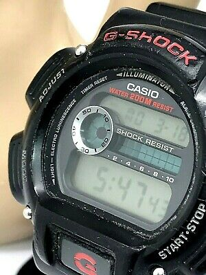 Casio 3232 G-Shock Men's DW9052 Quartz Sport Digital Black Resin Watch Used