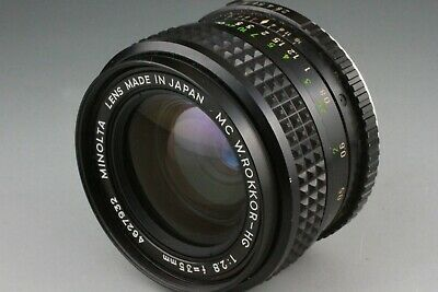 Minolta MC W.Rokkor 35mm f/2.8 Wide Angle Lens With Cap From JAPAN