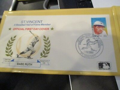 1993 SSCA Hall Of Fame Legends First Day Covers Babe Ruth Ty Cobb Lou Gehrig
