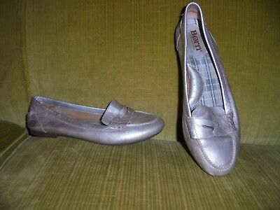 c68a886e3c0 HALOGEN WOMENS  SYLVIA  Pewter Leather Loafers Sz 6 - 231678 ...