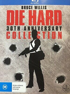 DIE HARD 30TH ANNIVERSARY COLLECTION - BLURAY Set 5 x Movie Collection AS NEW!