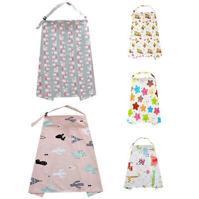 Shawl Nursing Cover Baby Canopy Apron SOFT Mum Cotton Blanket Cloth New Floral