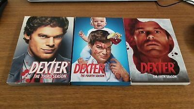 Dexter Season 2 3 4 5 two three five four DVD Sets Lot showtime hall