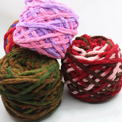 Thick Bulky Wool Yarn Soft Chunky Hand Knitting Hat Scarf Blanket Arm Knit 7mm
