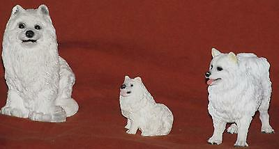 Samoyed Living Stone Figurine Family Free Shipping