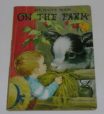 My Happy Book on the Farm Childrens Book DOEISHA Made in Japan 1950s RARE