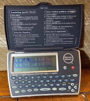 Franklin DBE-1450 Merriam-Webster Handheld Electronic Spanish-English Dictionary
