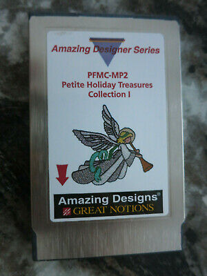 Amazing Designs Petite Holiday Treasures Collection 1 Card  Pfaff PFMC-MP2