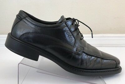 ECCO Leather Dress Oxfords Black US Mens 7 - 7.5 EU 40 Lace Up HARDLY WORN