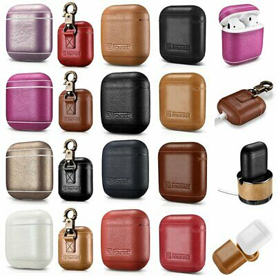 Genuine ICARER Cowhide Leather Protective Shockproof Case Cover Skin For AirPods